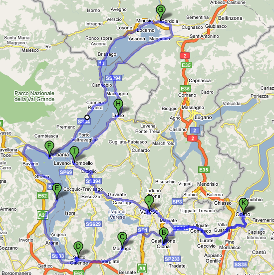Lago Maggiore Cartina Stradale.Giro Del Lago Maggiore Forever Wild