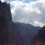 Vista dalla strada extraurbana 13 in Svizzera