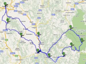 Mappa Umbria quarto giorno