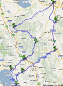 Mappa Umbria terzo giorno